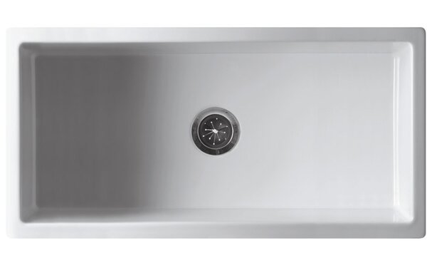 Alfi Brand 36 L X 18 W Single Bowl Fireclay Farmhouse Kitchen Sink Reviews Wayfair