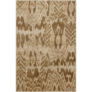 Dwell Brown/Tan Abstract Area Rug