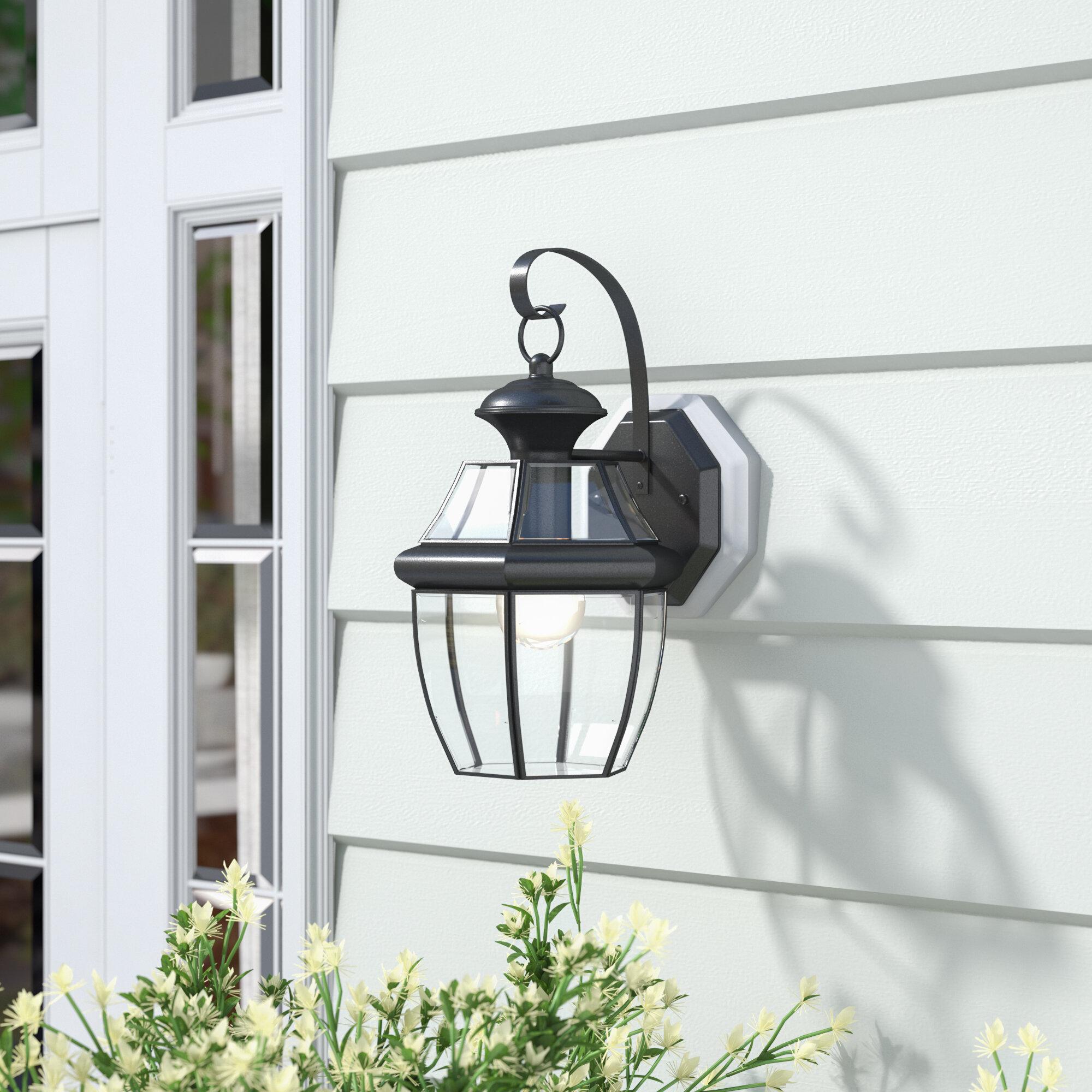 Three Posts Mellen LED Outdoor Wall Lantern & Reviews | Wayfair