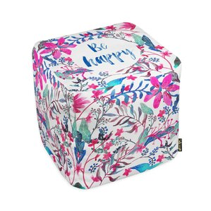 Oliver Gal Home Colorful Happy Cube Ottoman by Oliver Gal