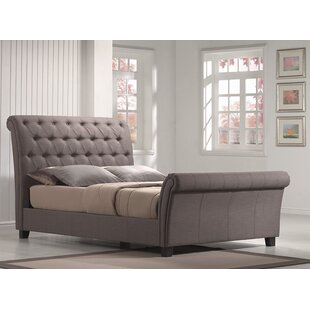 upholstered leather sleigh bed. Lilou Upholstered Sleigh Bed Leather C