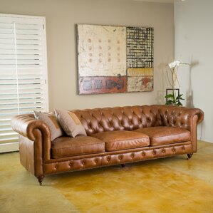 clairemont leather sofa