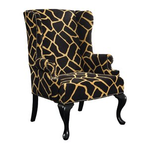 Evie Wing back Chair by World Menagerie
