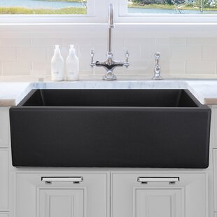 Black Stainless Farmhouse Sink   Wayfair on 24 bathroom vanity with sink, 24 x 16 sink, copper bowl sink, hammered copper farmhouse sink, cast iron undermount double sink, 70 30 undermount stainless steel sink,