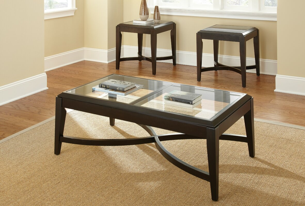 Wayfair Living Room Tables: Steve Silver Furniture Mayfield 3 Piece Coffee Table Set
