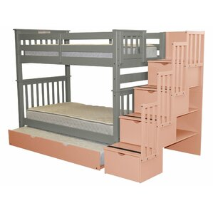Stairway Tall Twin over Twin Bunk Bed ..
