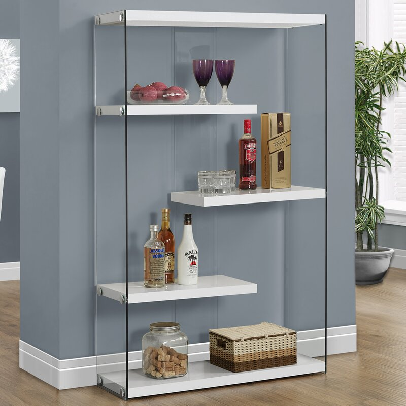 White Cantrell Standard Bookcase (Part Number: I 3290) by Monarch Specialties Inc.
