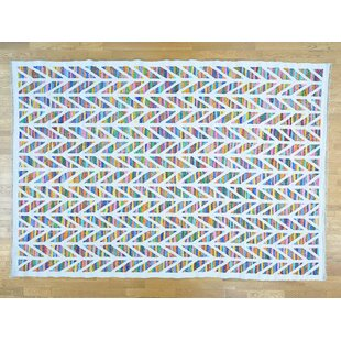 Great Price One-of-a-Kind Jamil Handmade Kilim 9'10 x 14' Wool White Area Rug By Isabelline
