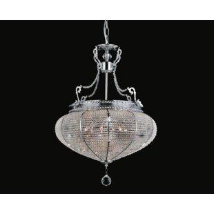 Smoke grey crystal chandelier wayfair 6 light crystal chandelier mozeypictures Choice Image