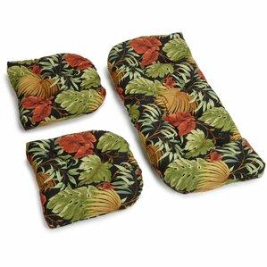 Blazing Needles Outdoor 3 Piece Patio Cushion Set