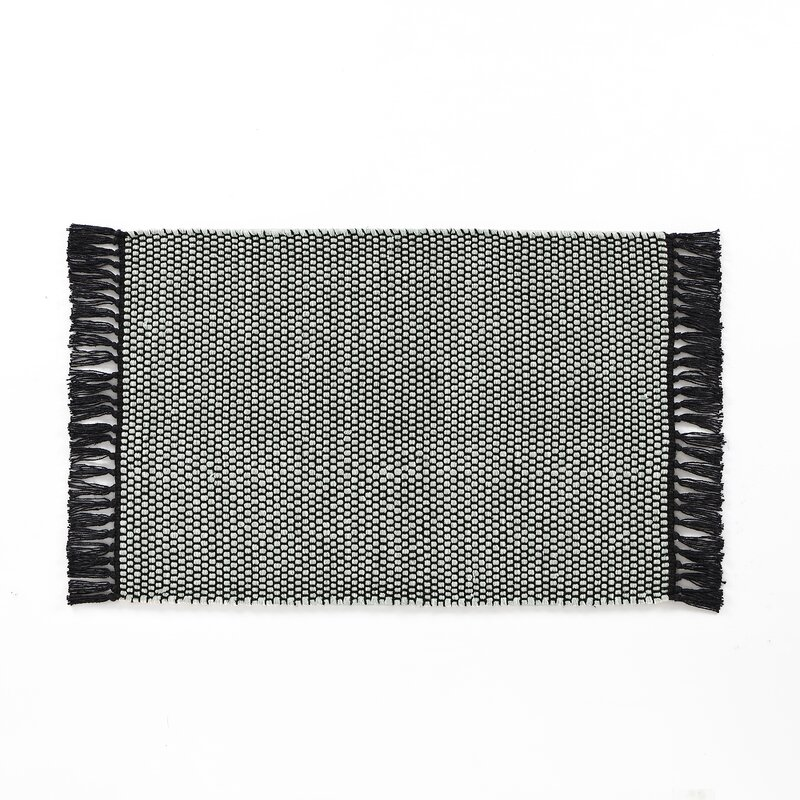 Breakwater Bay Feeley Solid Scatter Charcoal Area Rug, Size: Rectangle 20 x 30