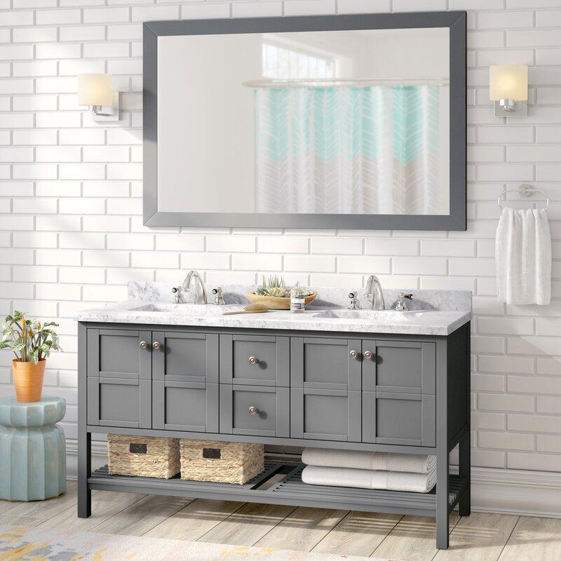 Willa Arlo Interiors Bob Double Bathroom Vanity Set Reviews - Bathroom vanities palm beach county