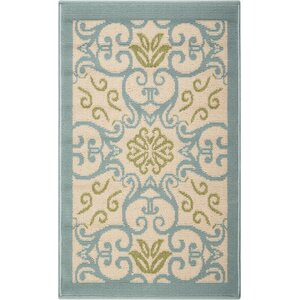 Carleton Ivory/Blue Indoor/Outdoor Area Rug
