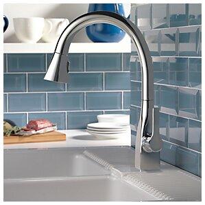 Delta Mateo? Single Handle Deck Mounted Kitchen Faucet