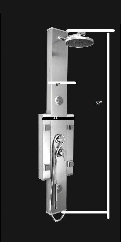 Bathroom Shower Tower Massage Multi Jets Spa System Panel Diverter
