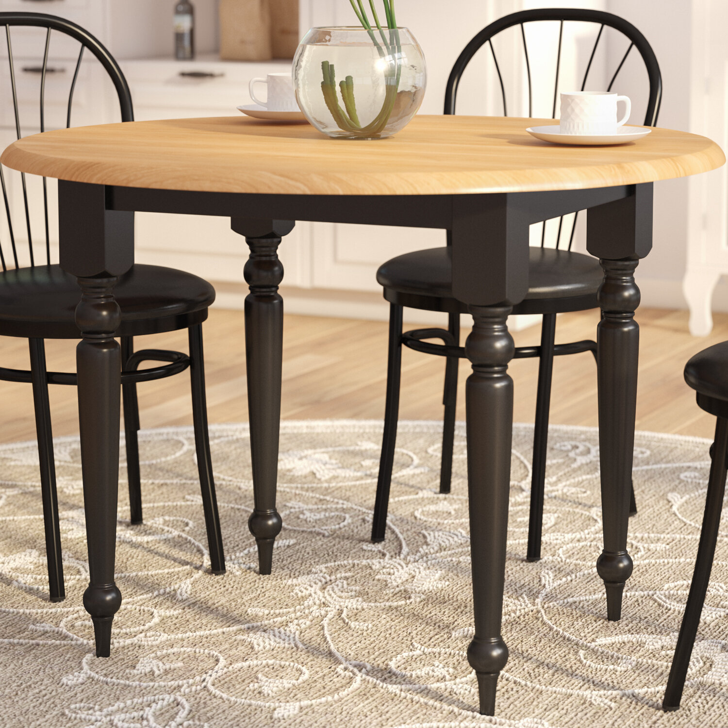 Andover mills belle haven double drop leaf dining table reviews wayfair