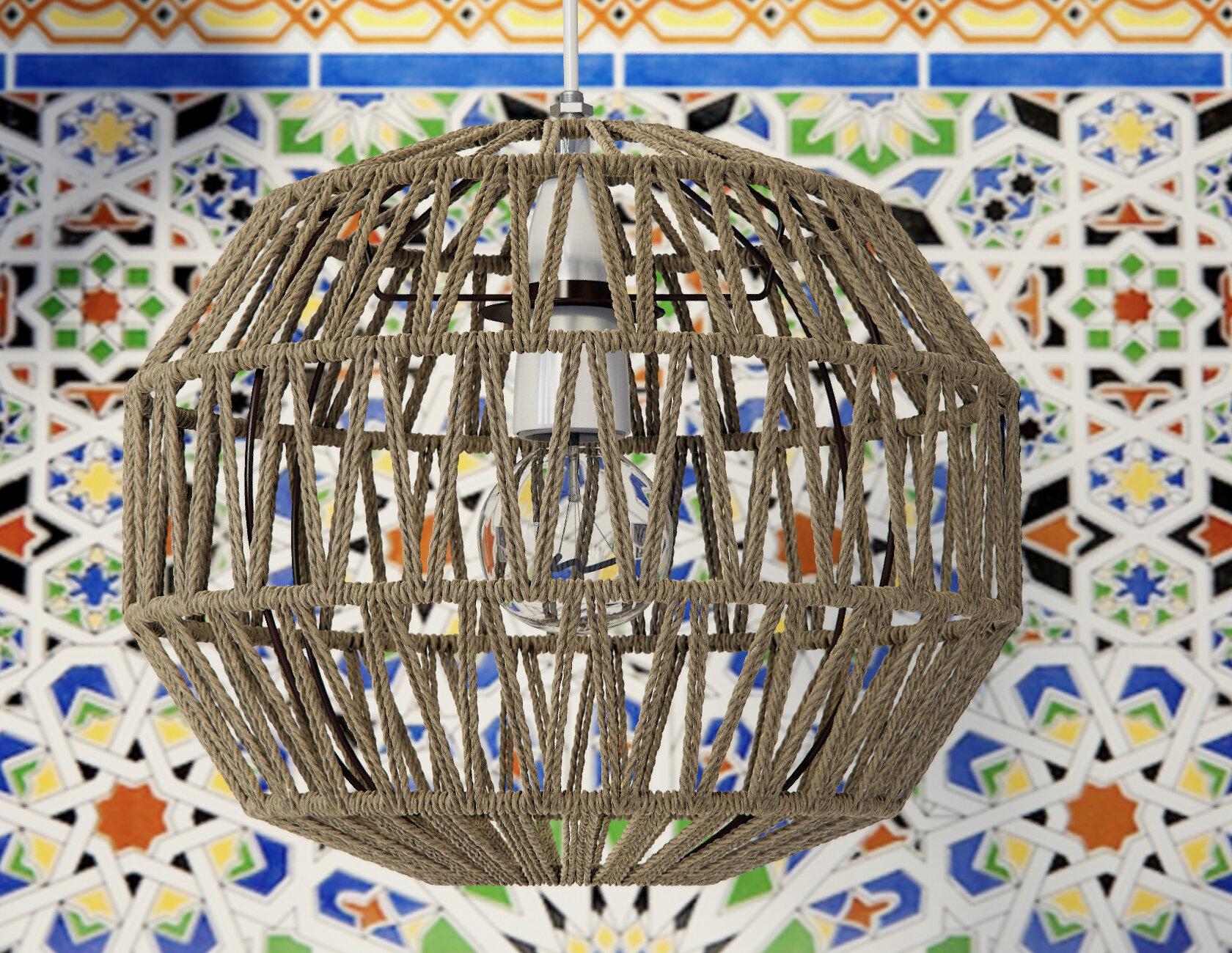 Macca 28cm Textile Sphere Pendant Shade