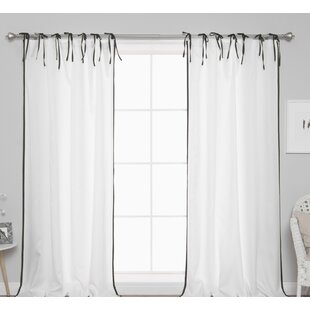 Sheer Tie Top Curtains Wayfair