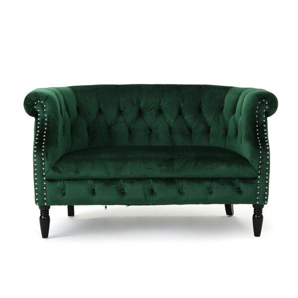 emerald green velvet sofa wayfair. Black Bedroom Furniture Sets. Home Design Ideas