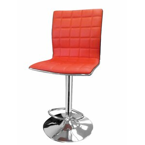 Lonegan Adjustable Height Swivel Bar Stool by Wade Logan