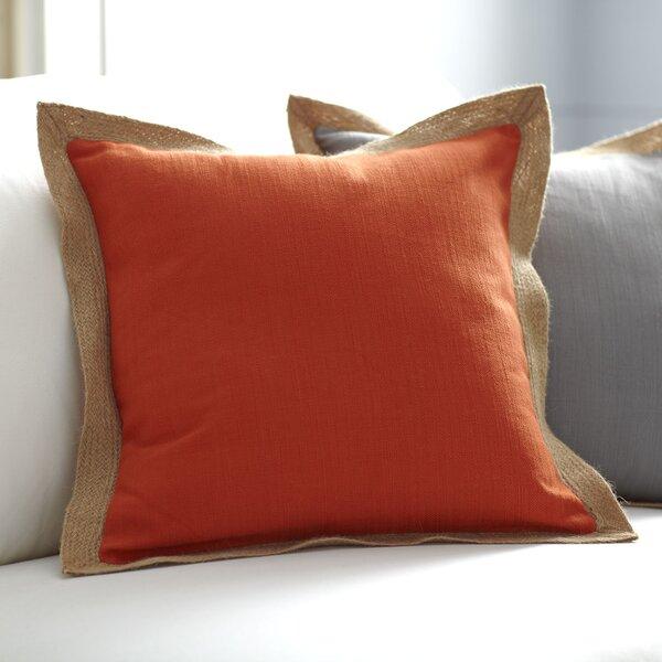 Jute Trim Pillow Cover Wayfair Amazing Jute Pillow Cover With Braided Trim