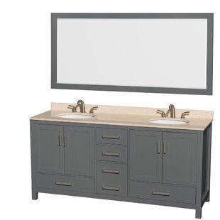 70 Inch Double Sink Vanity Wayfairca