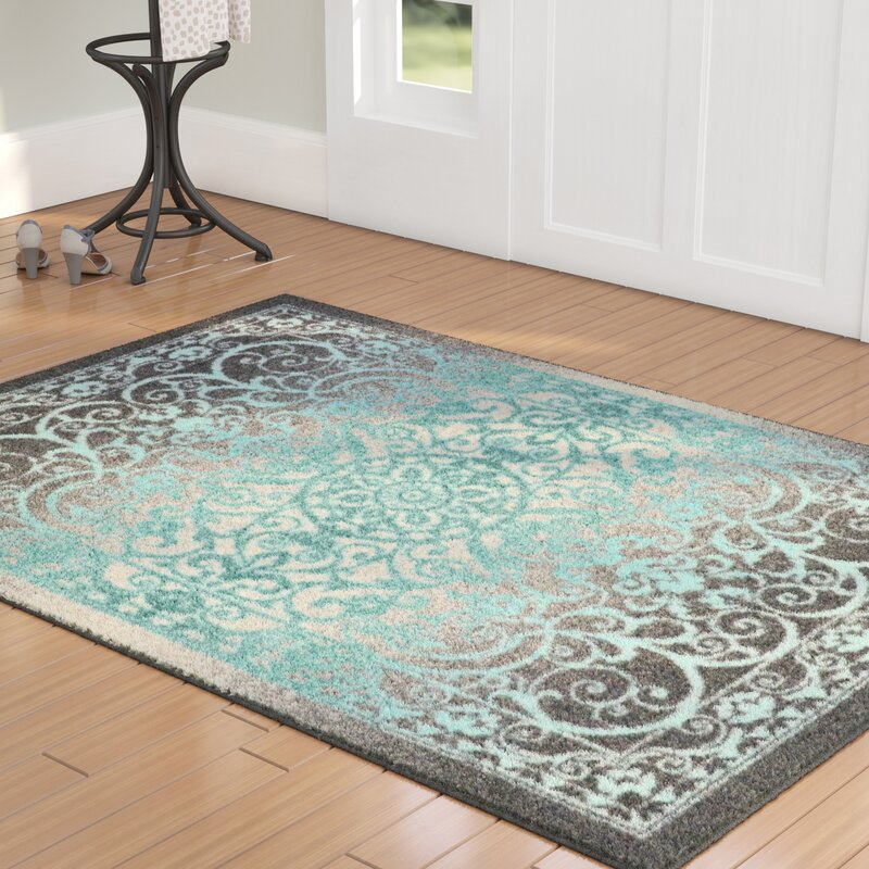 Charlton Home Landen Grey Blue Area Rug Amp Reviews Wayfair Ca