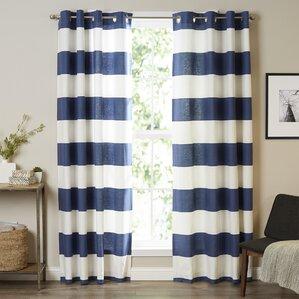 striped curtains & drapes you'll love | wayfair
