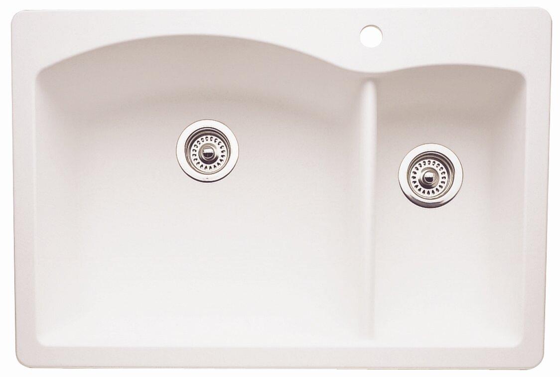 diamond 33   x 22   2 basin drop in kitchen sink diamond 33   x 22   2 basin drop in kitchen sink  u0026 reviews   allmodern  rh   allmodern com