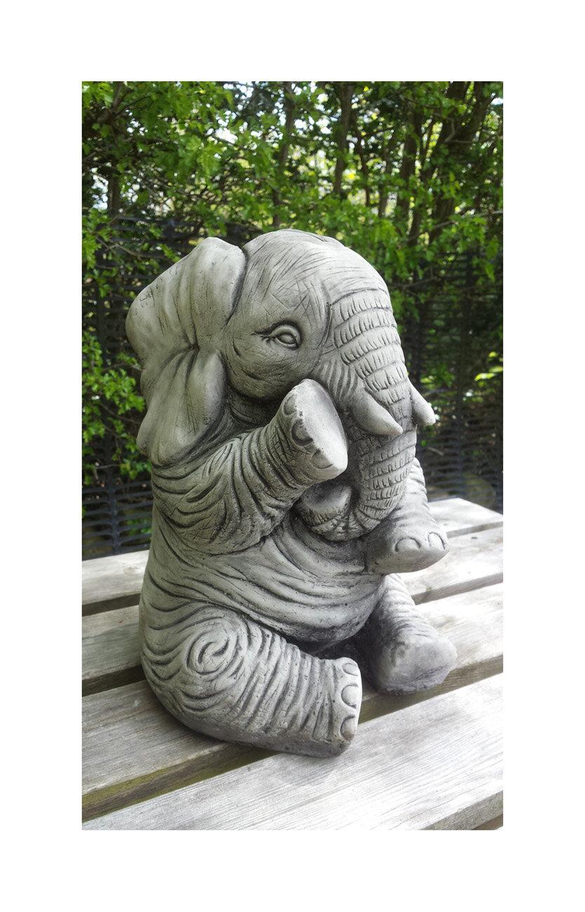 Greatest Garden Ornaments by Onefold Elephant Trunk Down Stone Garden  KJ39