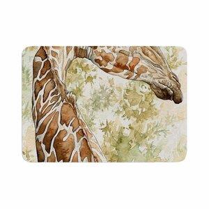 Wildlife Africa 2 Animals Memory Foam Bath Rug