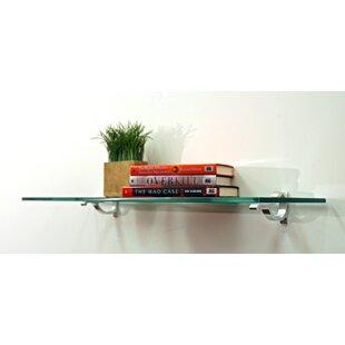 Floating glass shelves Brackets Floating Floating Shelf By Spancraft Glass Art Estuff com Floating Glass Shelf Wayfair