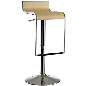 Wilton Adjustable Height Swivel Bar Stool by Wade Logan