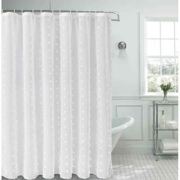 House of Hampton Liah Linen Look Fabric Shower Curtain | Wayfair