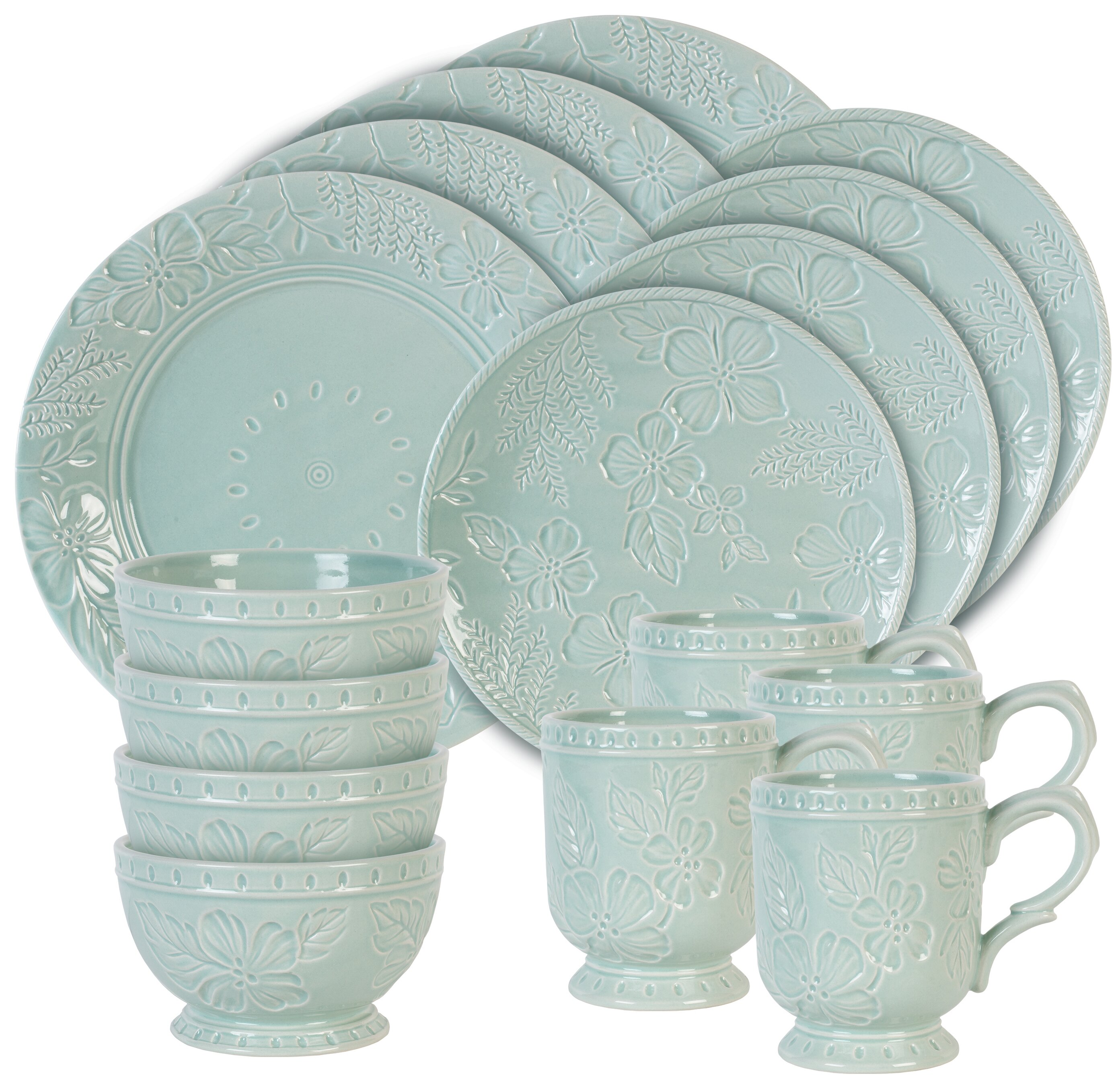 Fitz and Floyd English Garden 16 Piece Dinnerware Set Service for 4 \u0026 Reviews | Wayfair  sc 1 st  Wayfair & Fitz and Floyd English Garden 16 Piece Dinnerware Set Service for 4 ...