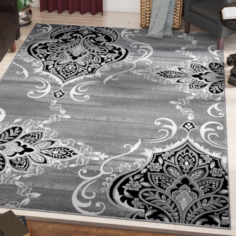 Fleur De Lis Living Janis Gray Area Rug Reviews Wayfair