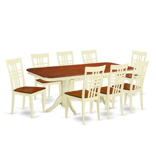 Beesley 9 Piece Buttermilk/Cherry Dining Set