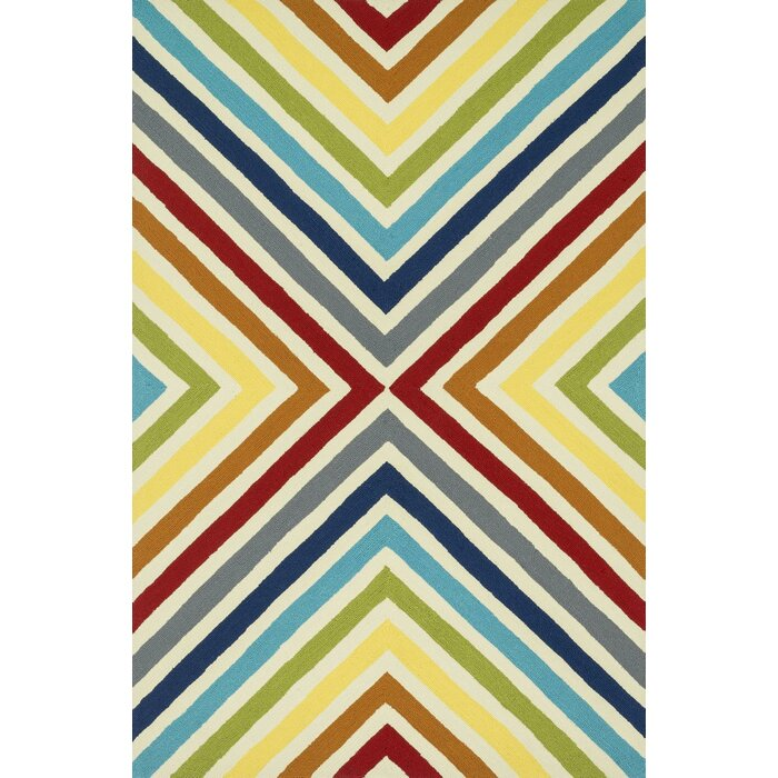 Palm Springs Hand Woven Yellow Red Area Rug
