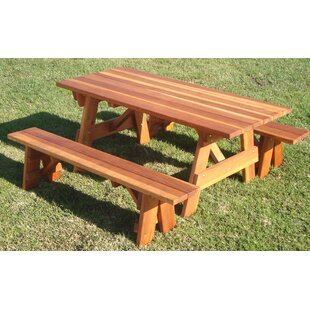 Kensington Solid Wood Picnic Table