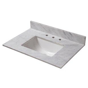 Marble 31 Single Bathroom Vanity Top
