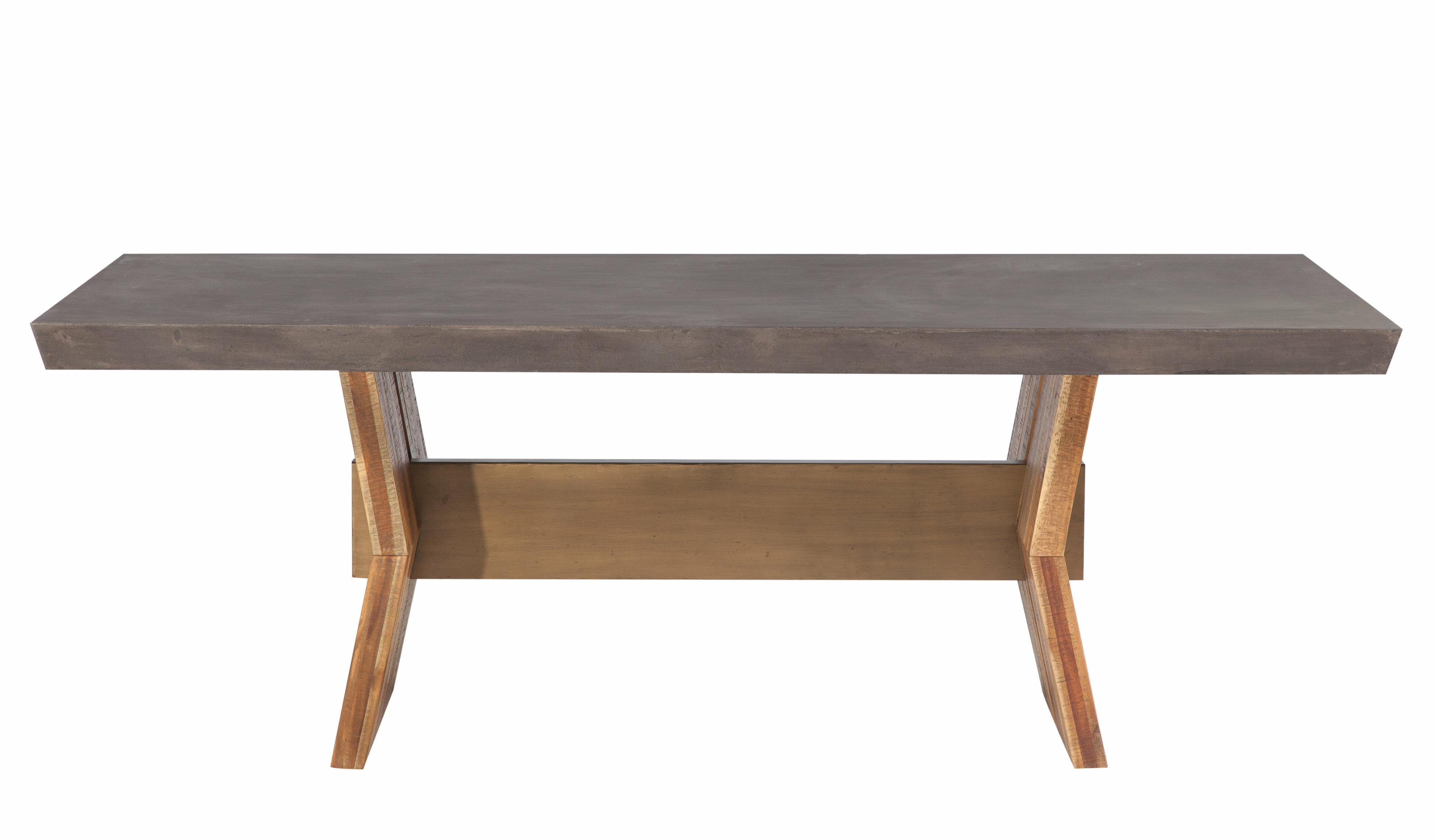 Brayden studio dusek concrete dining table wayfair