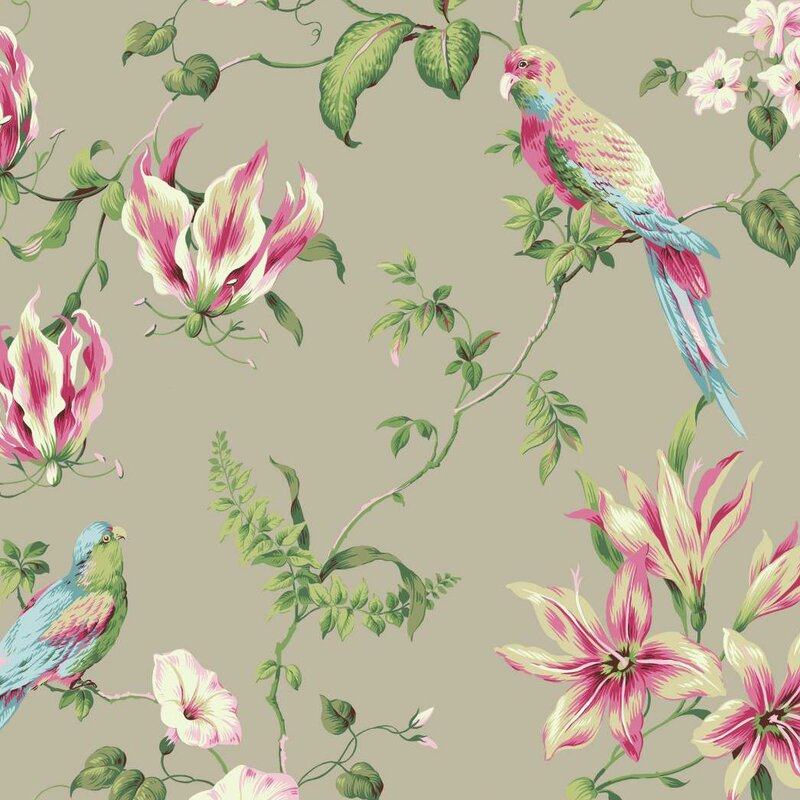 "Casabella II Tropical 27' x 27"" Floral and Botanical Wallpaper"
