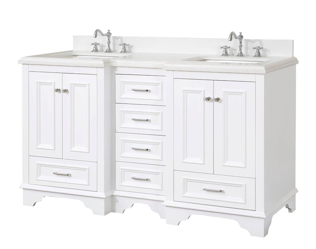 "Sale alerts for  Nantucket 60"" Double Bathroom Vanity Set - Covvet"