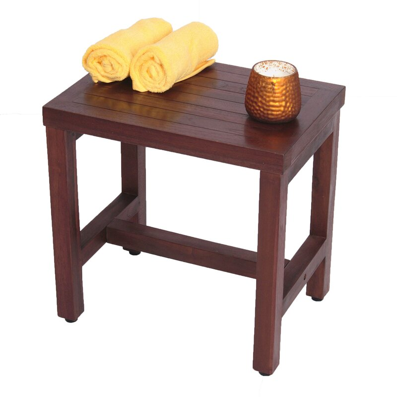 Decoteak Classic Teak Spa Shower Seat & Reviews | Wayfair
