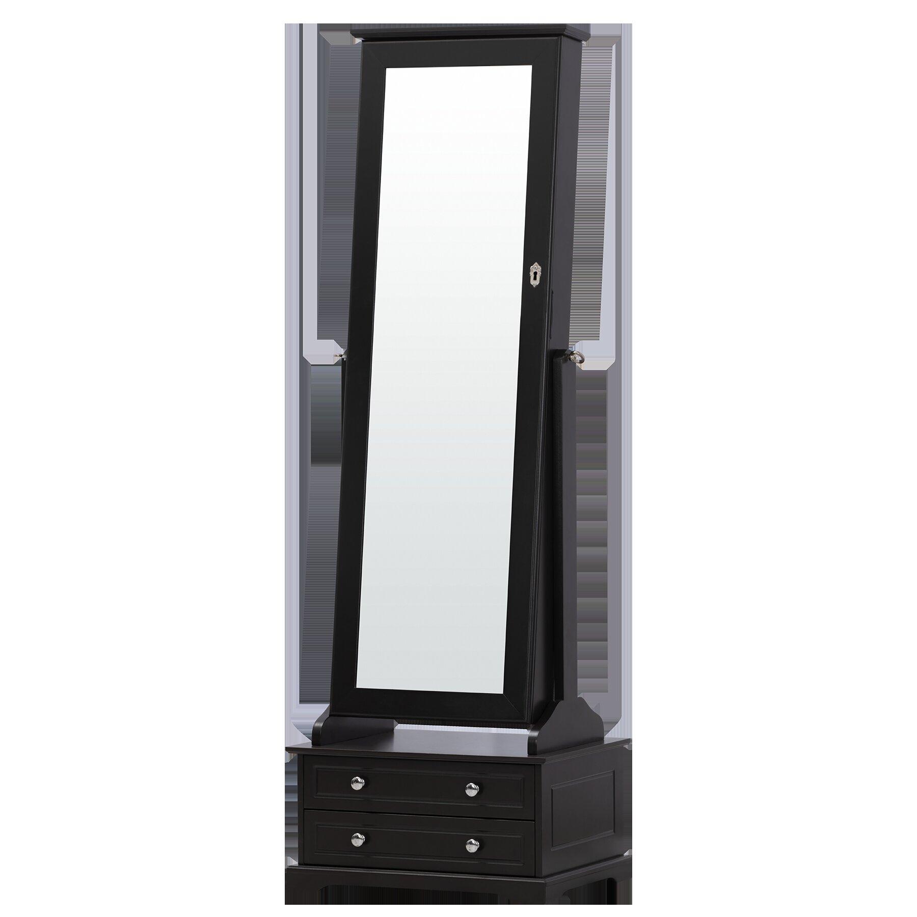 73870aa36 Canora Grey Odacia Free Standing Jewelry Armoire with Mirror   Wayfair