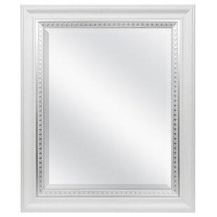 rectangle black frame. Farmhouse Woodgrain And Leaf Accent Wall Mirror Rectangle Black Frame