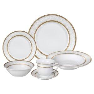 Amelia 24 Piece Porcelain Dinnerware Set, Service for 4