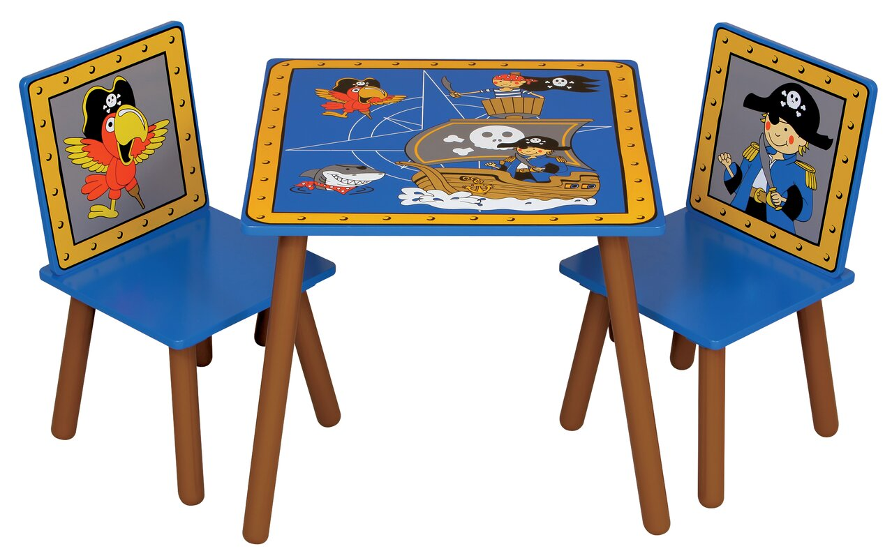 kidsaw 3 tlg kinder tisch und stuhl set pirate. Black Bedroom Furniture Sets. Home Design Ideas