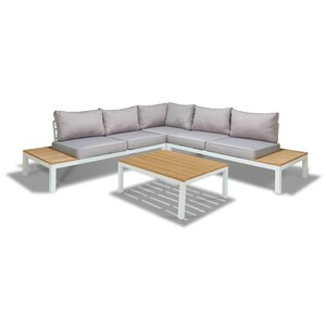 Schneider 4 Piece Sectional Seating Group with Cushion