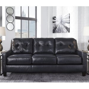 Stouffer Leather Sleeper Sofa by Red Barrel ..